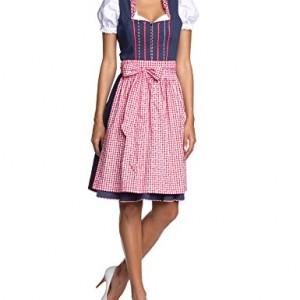 Edel-Herz-Damen-Dirndl-Kleid-Martha-Midi-Gepunktet-0